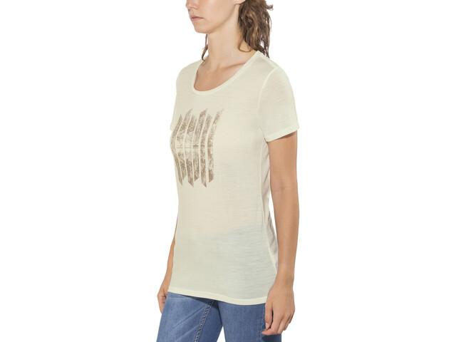 Icebreaker Tech Lite Soundless t-shirt Dames wit